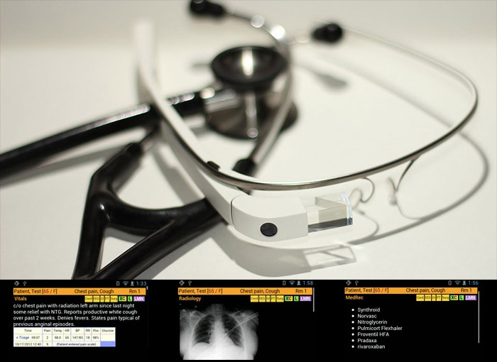Health Care Use of QR Codes and Google Glass